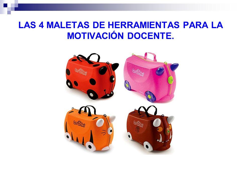 LAS 4 MALETAS DE HERRAMIENTAS PARA LA MOTIVACIÓN DOCENTE.