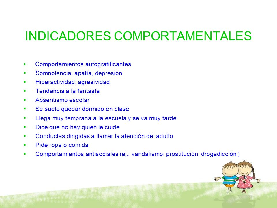 INDICADORES COMPORTAMENTALES