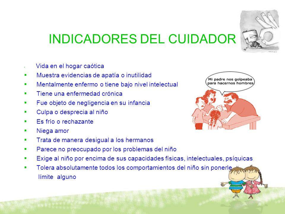 INDICADORES DEL CUIDADOR
