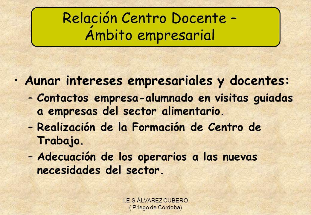 Relación Centro Docente – Ámbito empresarial