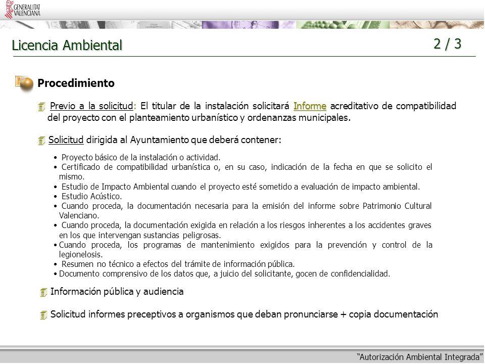 Estructura y procedimiento de la autorizaci n ambiental for Licencia de obras cuando es necesaria