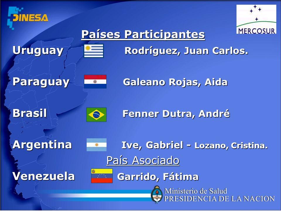 Países Participantes Uruguay Rodríguez, Juan Carlos. Paraguay Galeano Rojas, Aida.