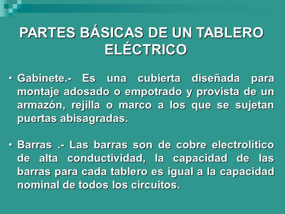 PARTES BÁSICAS DE UN TABLERO ELÉCTRICO