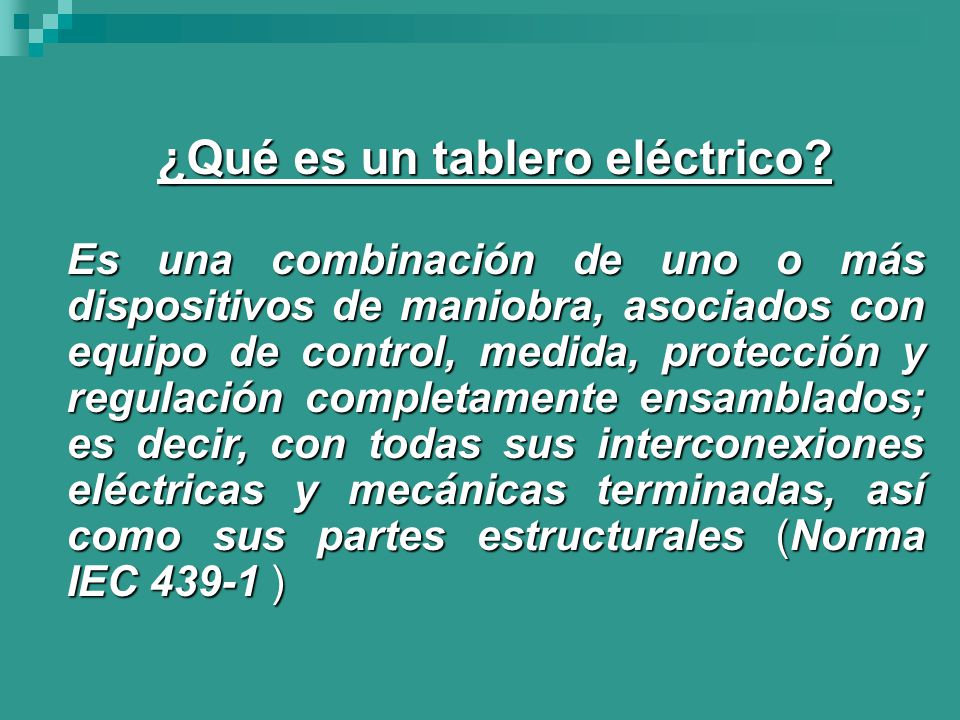 ¿Qué es un tablero eléctrico