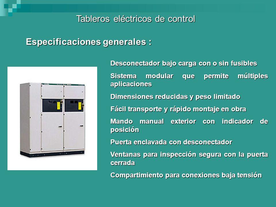 Tableros eléctricos de control