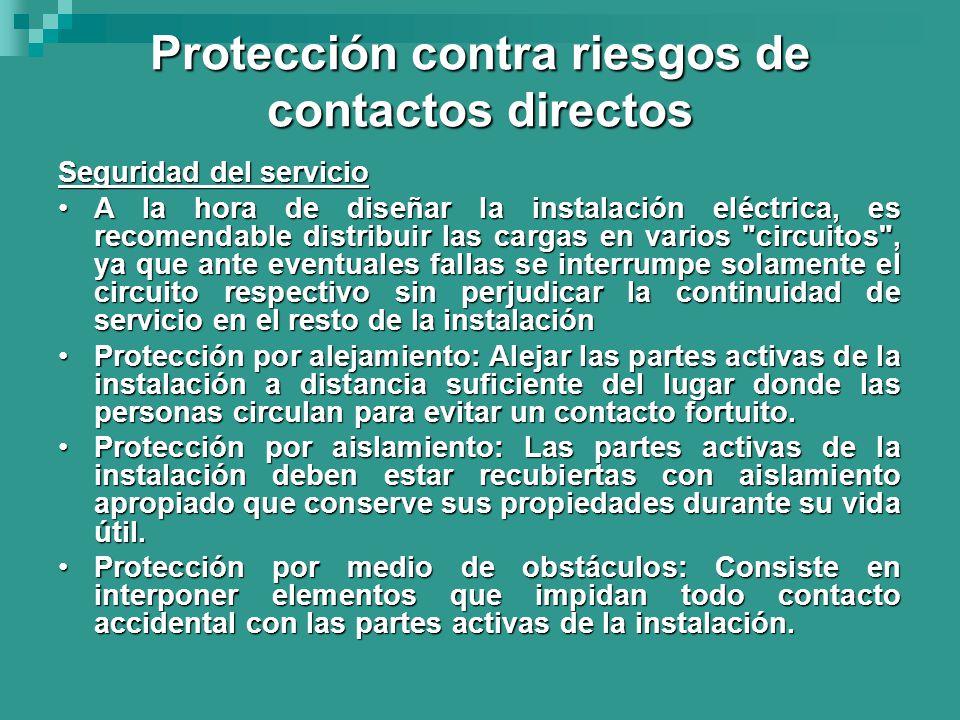 Protección contra riesgos de contactos directos