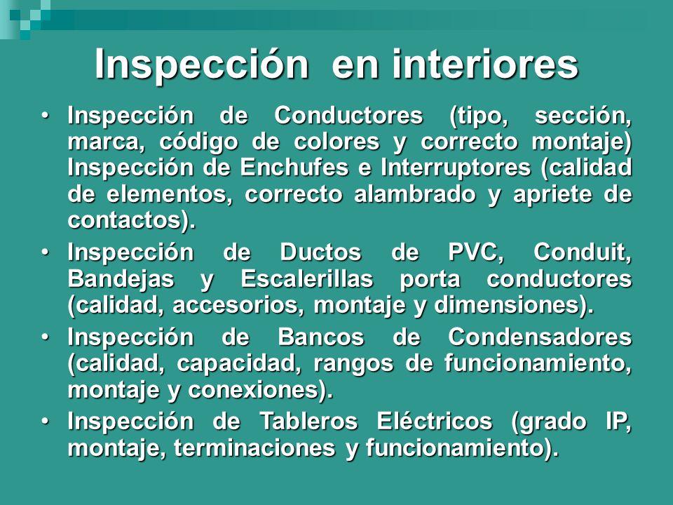 Inspección en interiores