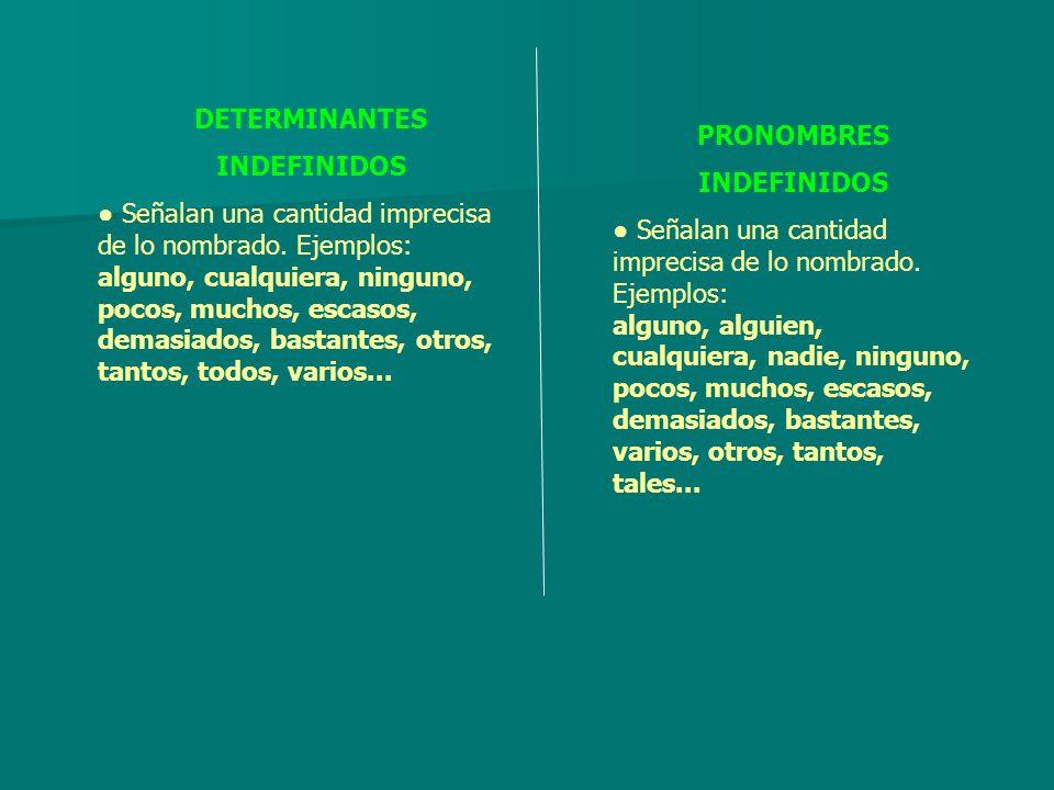 DETERMINANTES INDEFINIDOS.
