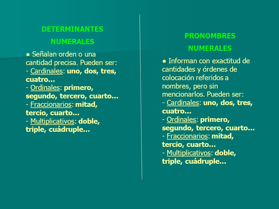 DETERMINANTESNUMERALES.