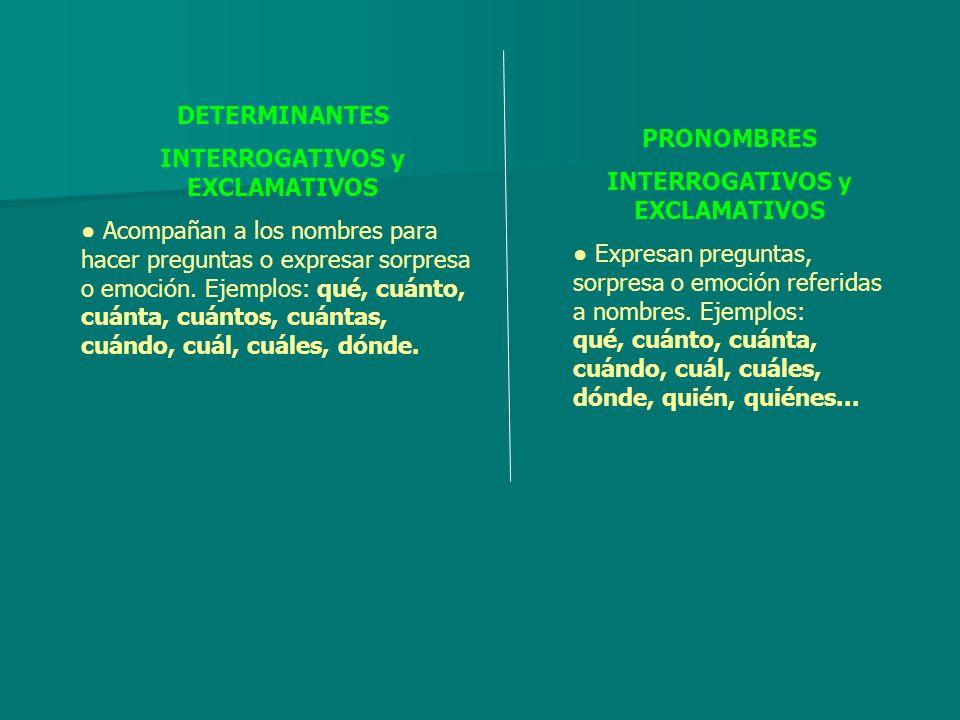 INTERROGATIVOS y EXCLAMATIVOS INTERROGATIVOS y EXCLAMATIVOS