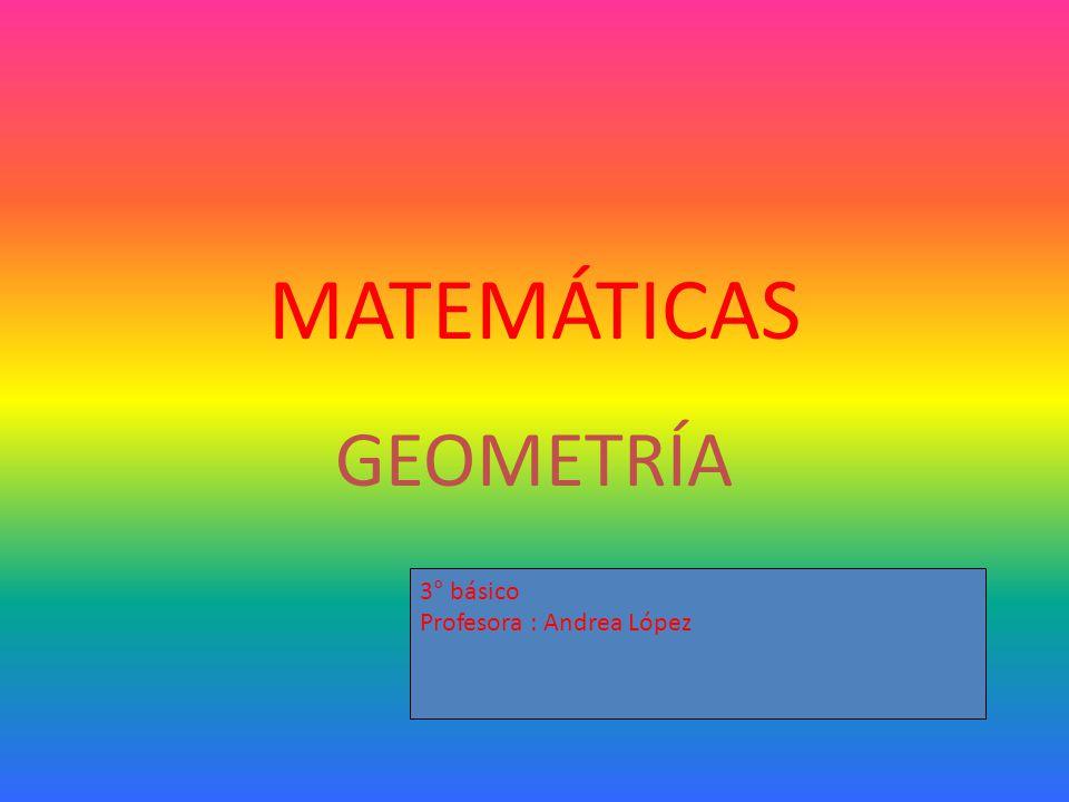 MATEMÁTICAS GEOMETRÍA 3° básico Profesora : Andrea López