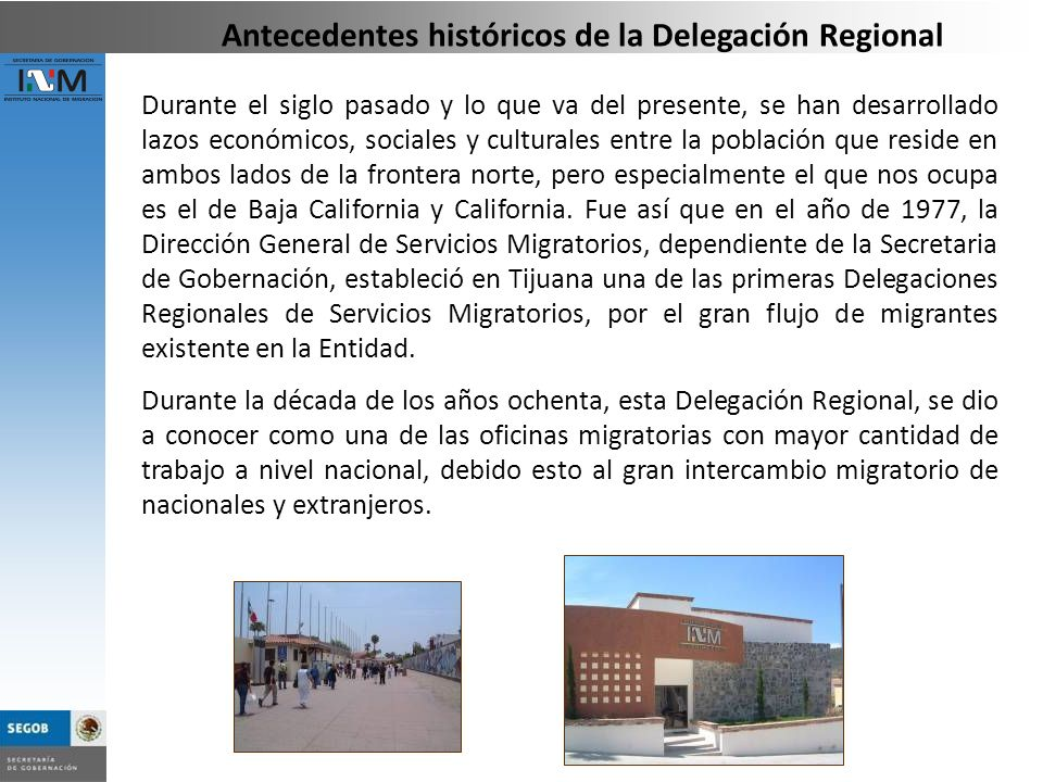 Antecedentes históricos de la Delegación Regional