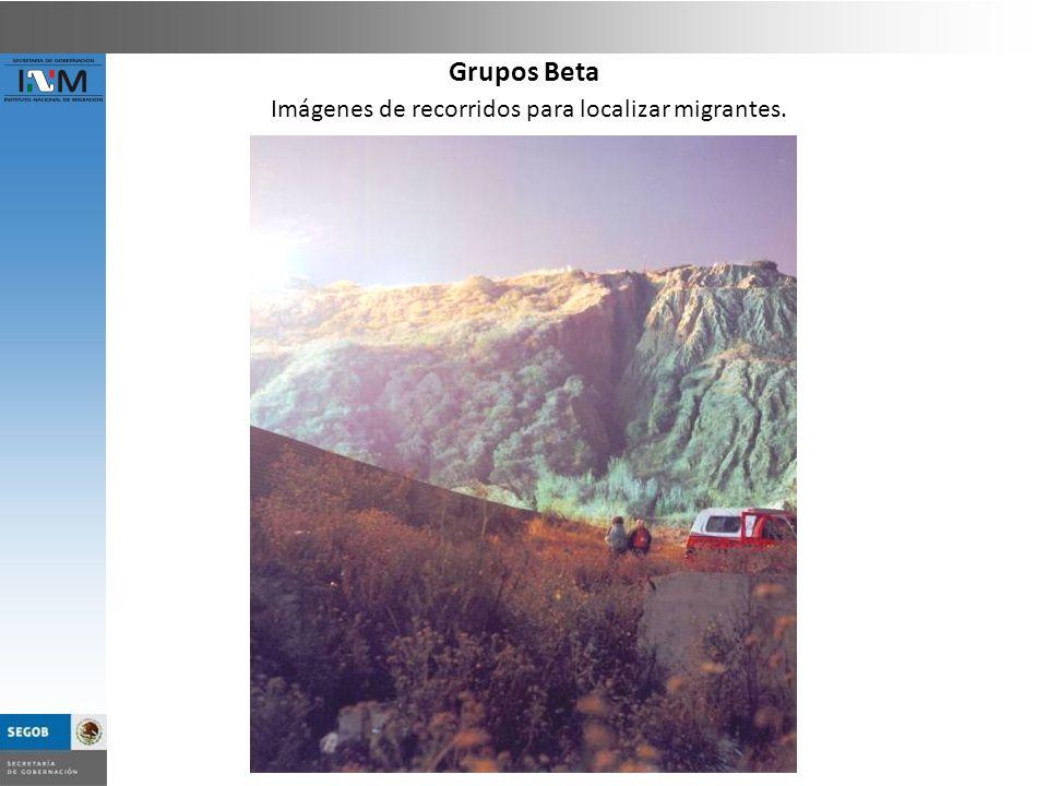 Imágenes de recorridos para localizar migrantes.