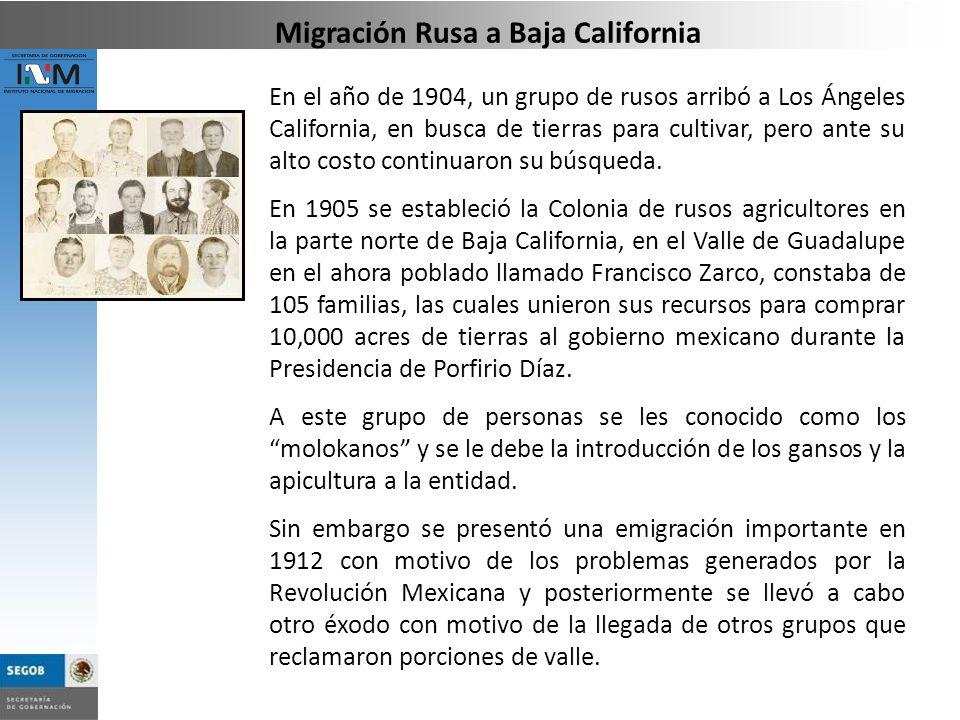 Migración Rusa a Baja California
