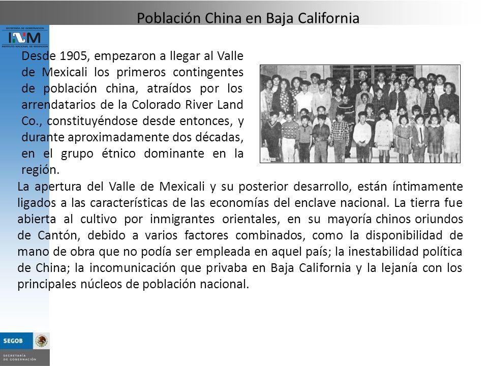 Población China en Baja California
