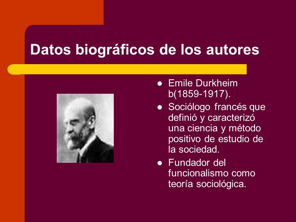 Datos biográficos de los autores
