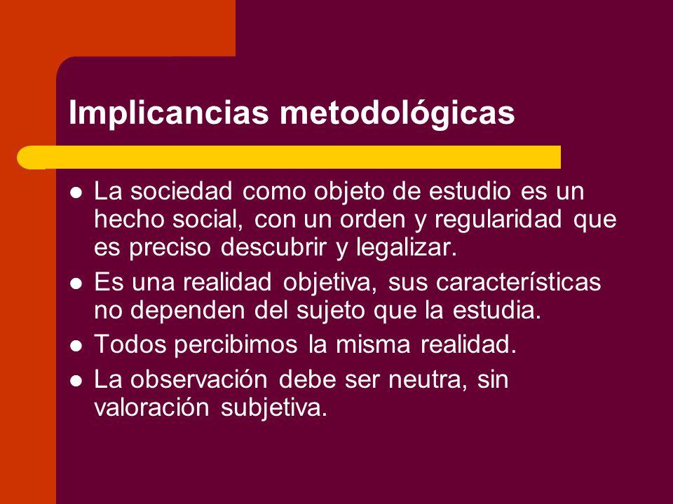 Implicancias metodológicas