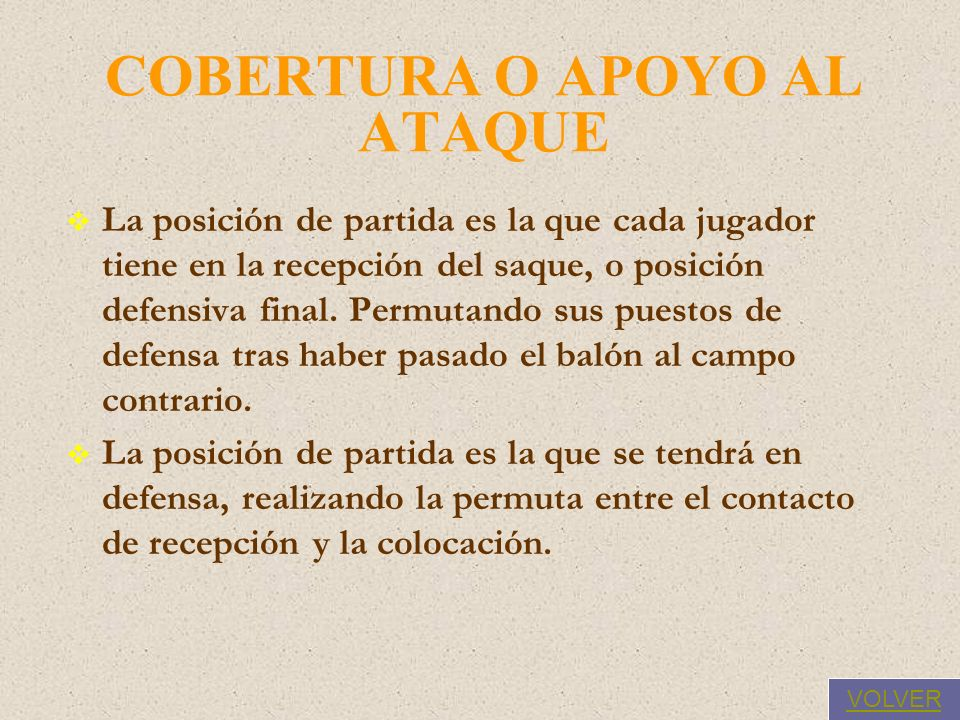 COBERTURA O APOYO AL ATAQUE