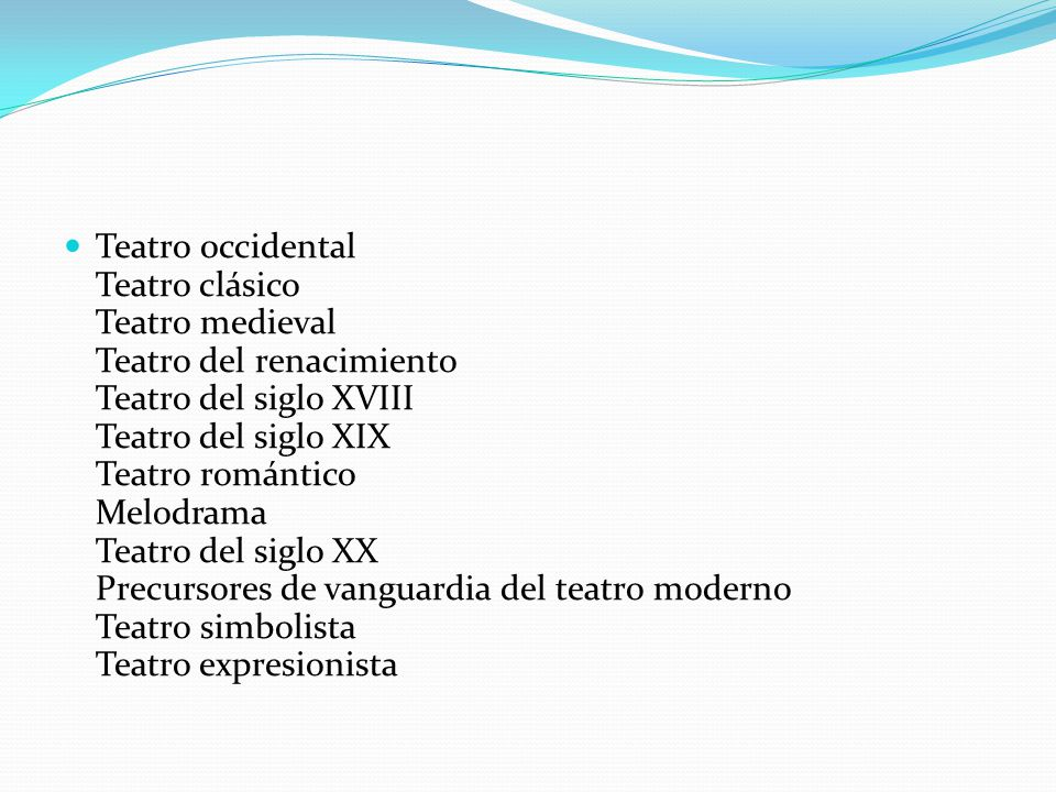Tipos de teatro ppt video online descargar for Tipos de vanguardias