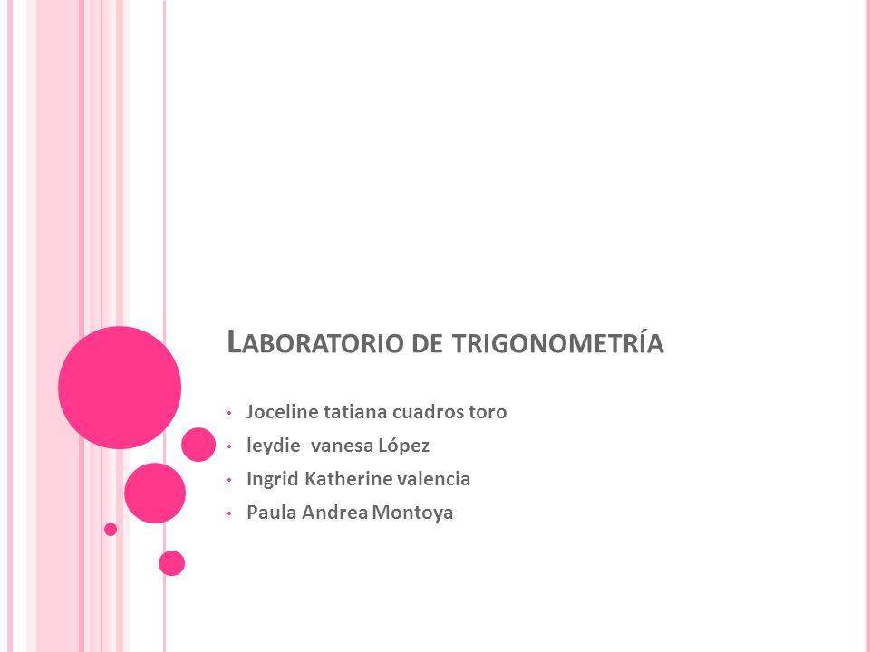 Laboratorio de trigonometría