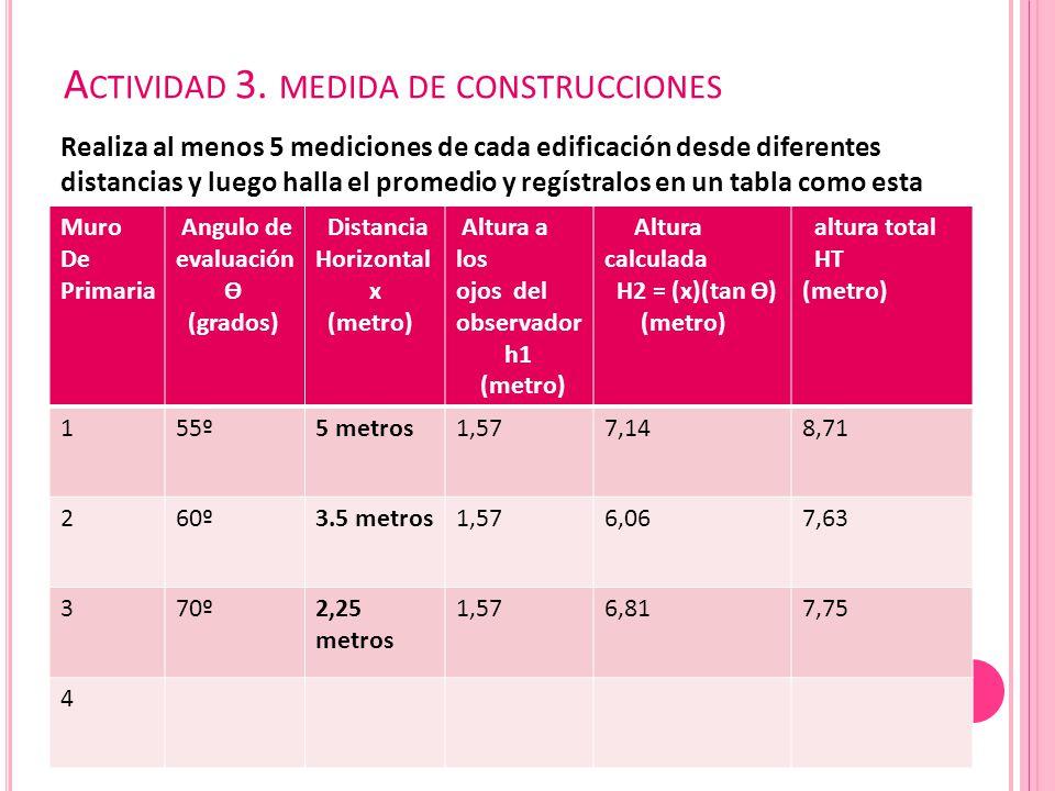 Actividad 3. medida de construcciones