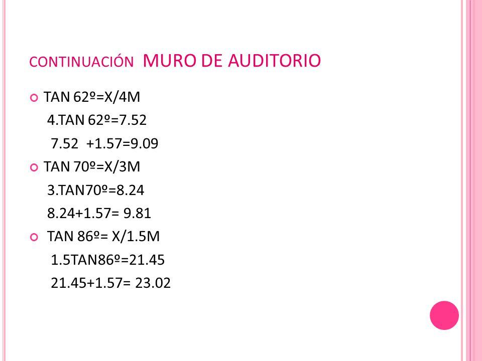 continuación MURO DE AUDITORIO