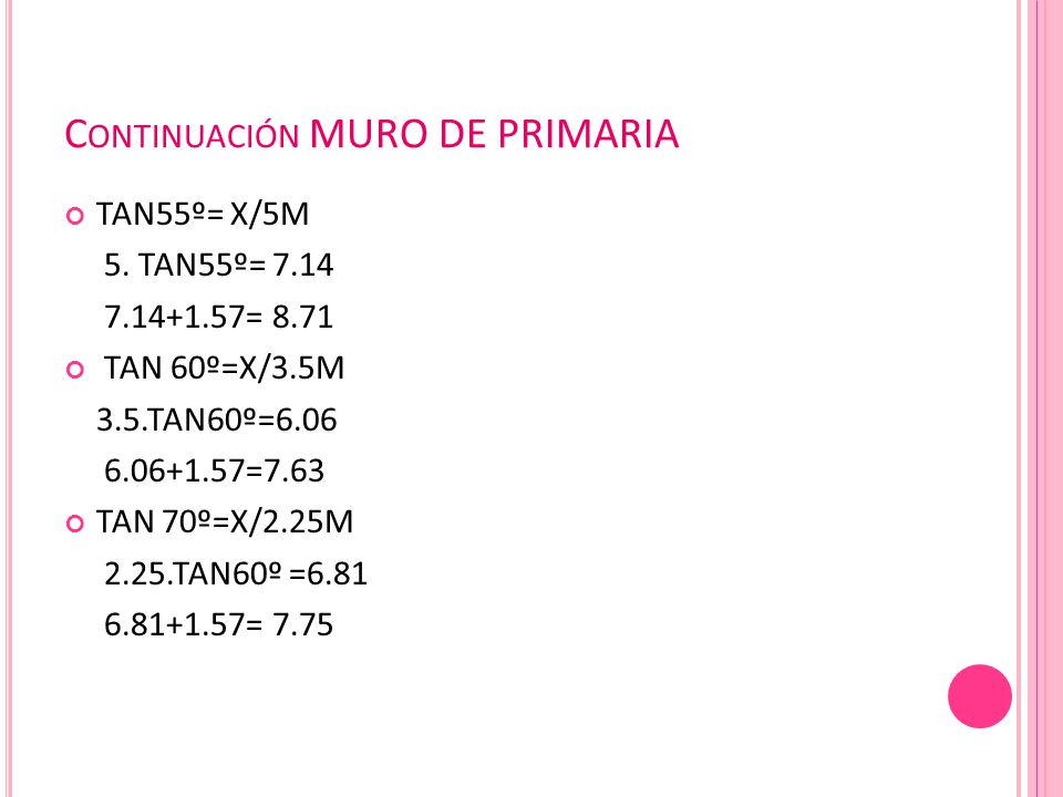 Continuación MURO DE PRIMARIA