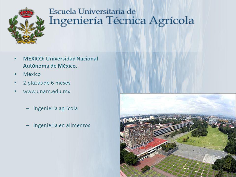 MEXICO: Universidad Nacional Autónoma de México.