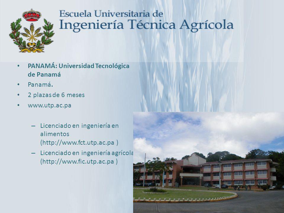PANAMÁ: Universidad Tecnológica de Panamá