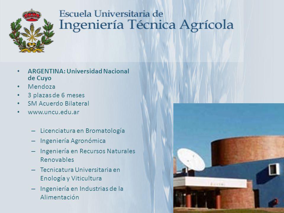 ARGENTINA: Universidad Nacional de Cuyo