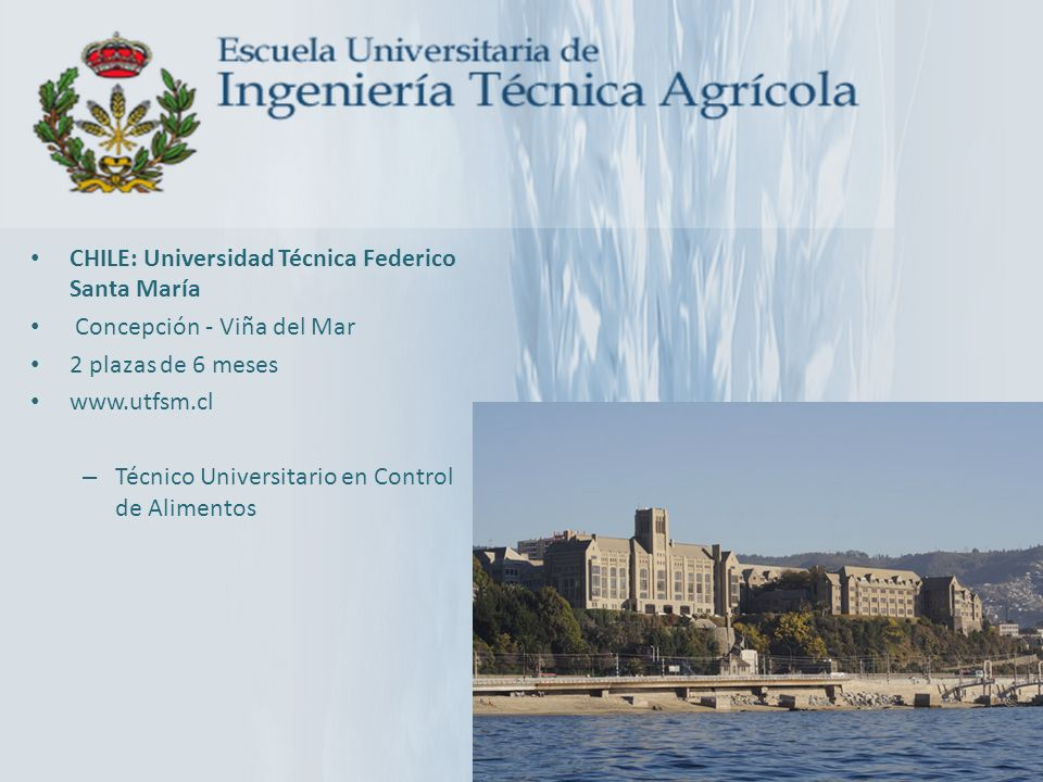 CHILE: Universidad Técnica Federico Santa María