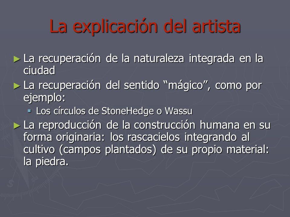 La explicación del artista