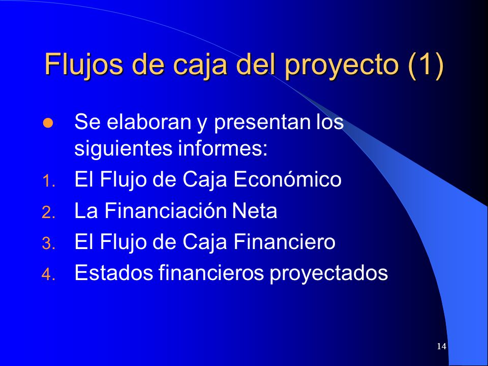 Flujos de caja del proyecto (1)