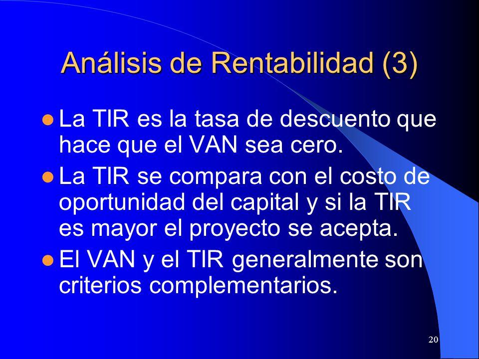 Análisis de Rentabilidad (3)