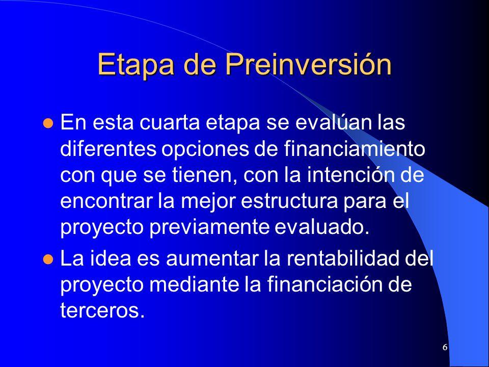 Etapa de Preinversión