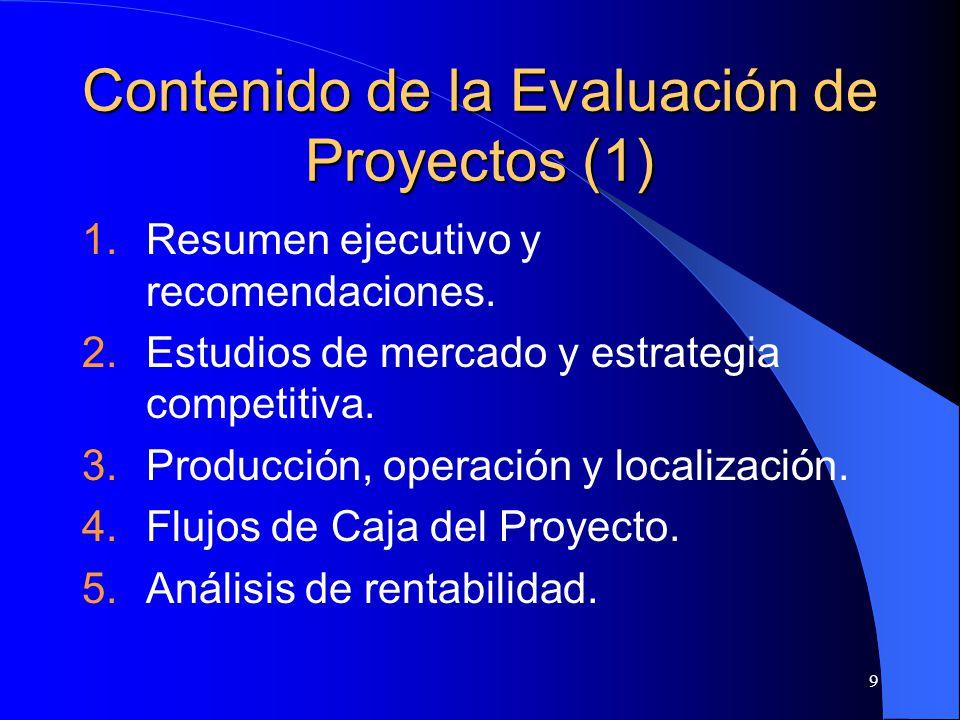 Contenido de la Evaluación de Proyectos (1)