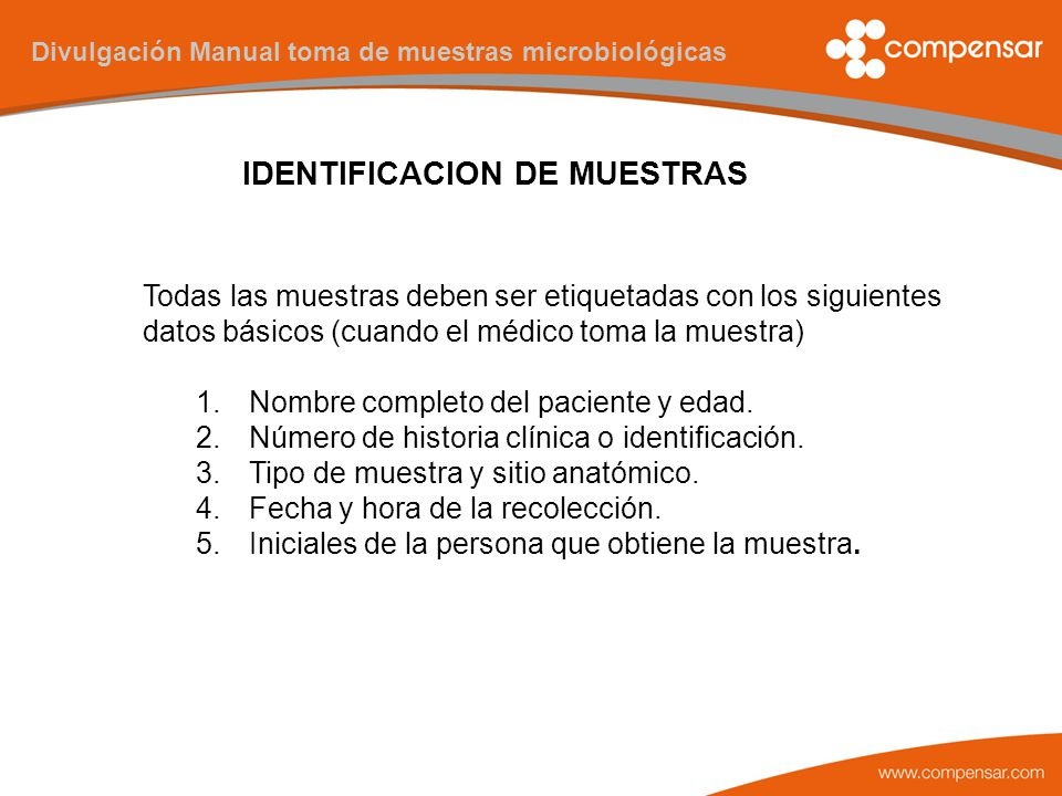 MANUAL DE TOMA DE MUESTRAS - ppt descargar