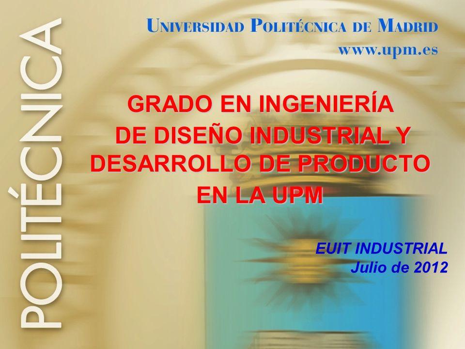 DE DISEÑO INDUSTRIAL Y DESARROLLO DE PRODUCTO