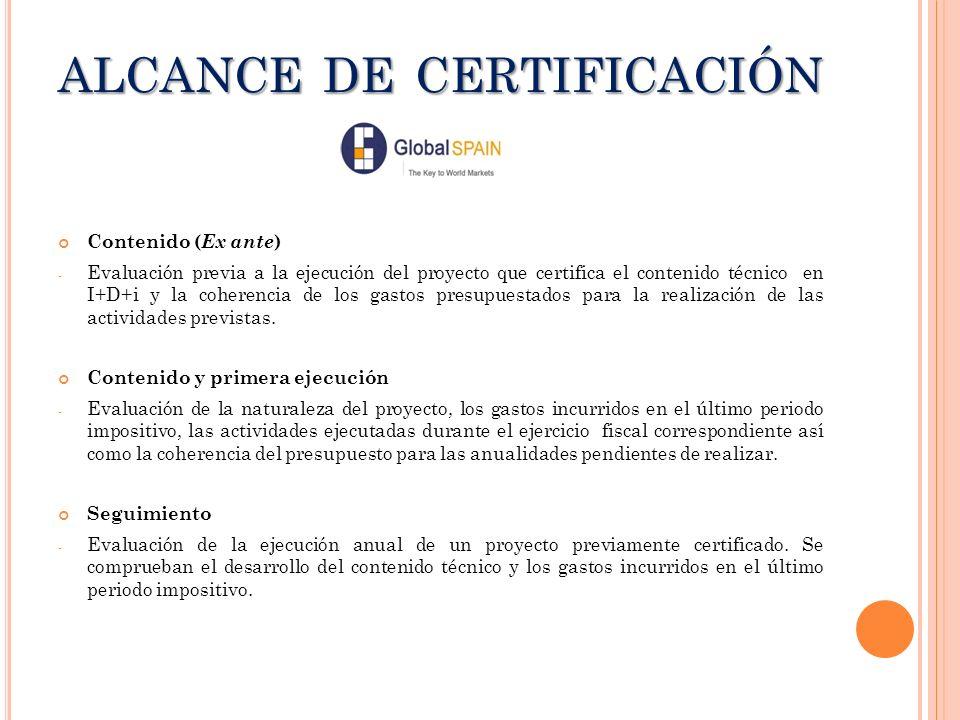 ALCANCE DE CERTIFICACIÓN