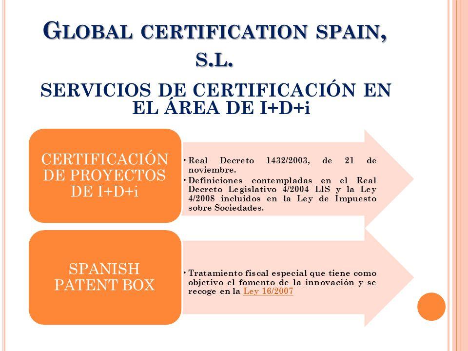 Global certification spain, s.l.