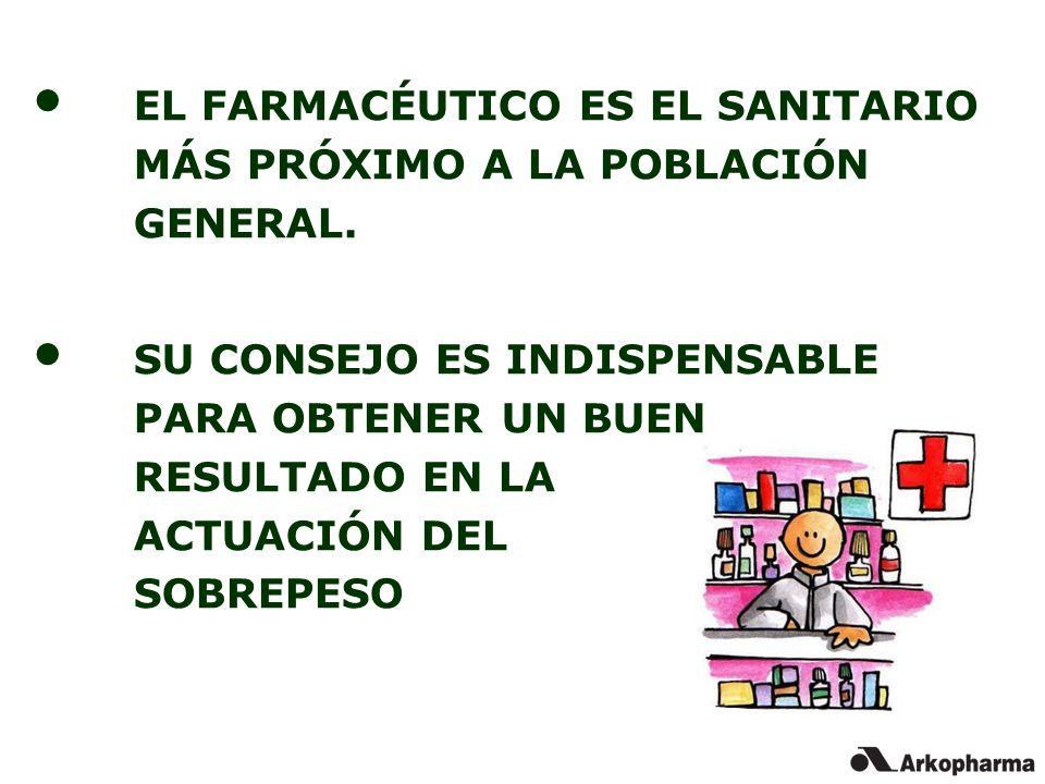 EL FARMACÉUTICO ES EL SANITARIO MÁS PRÓXIMO A LA POBLACIÓN GENERAL.