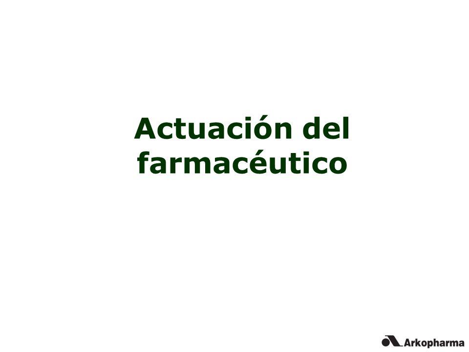 Actuación del farmacéutico