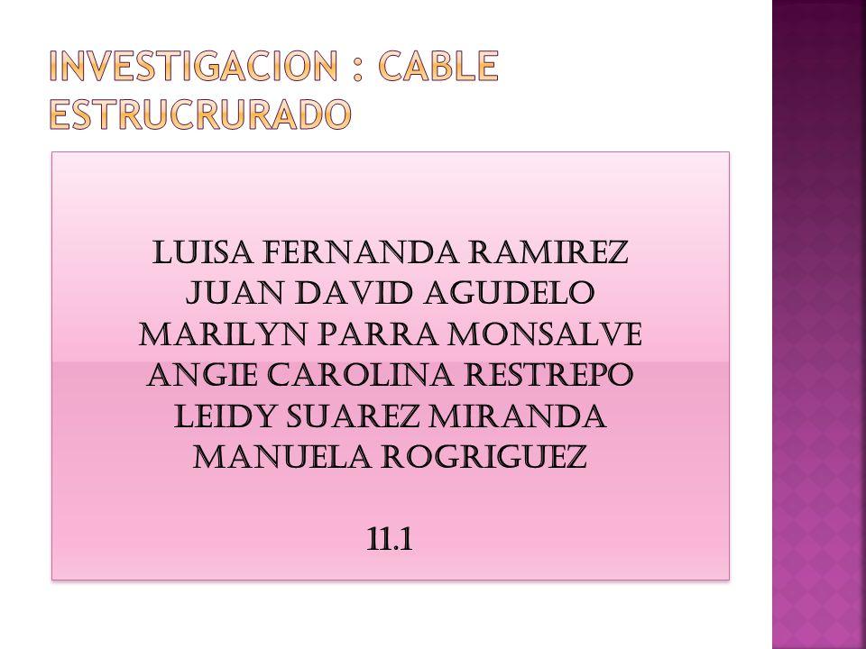 INVESTIGACION : CABLE ESTRUCRURADO