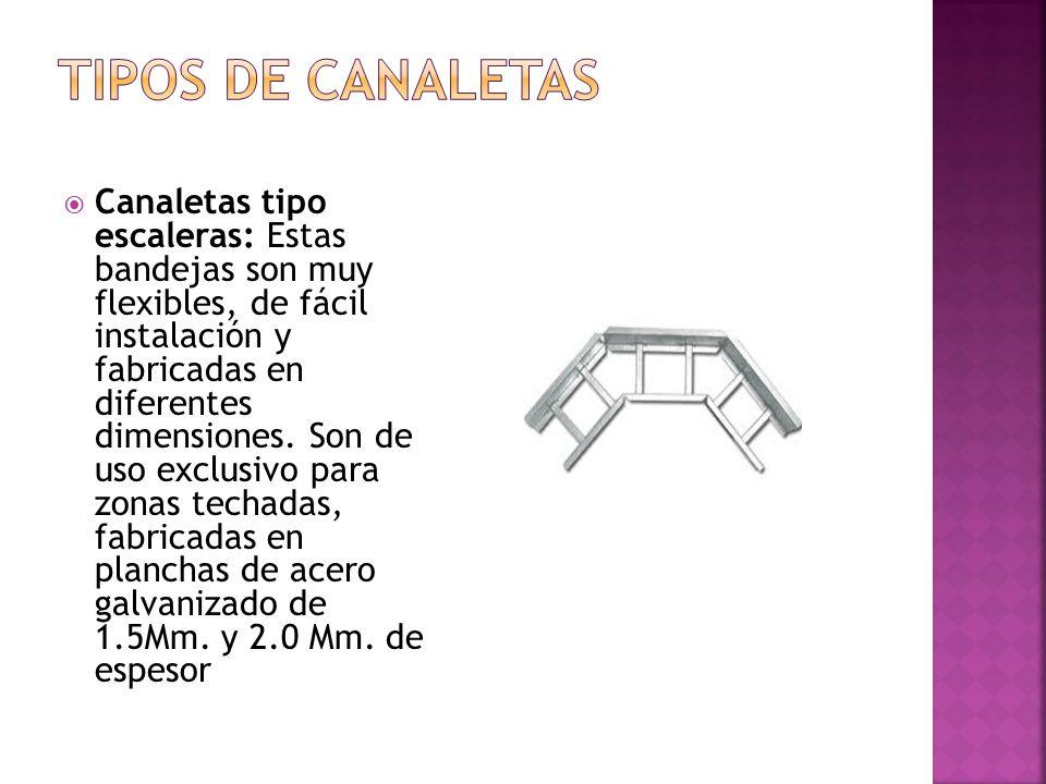 TIPOS DE CANALETAS