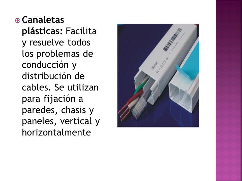 Canaletas plásticas: Facilita y resuelve todos los problemas de conducción y distribución de cables.