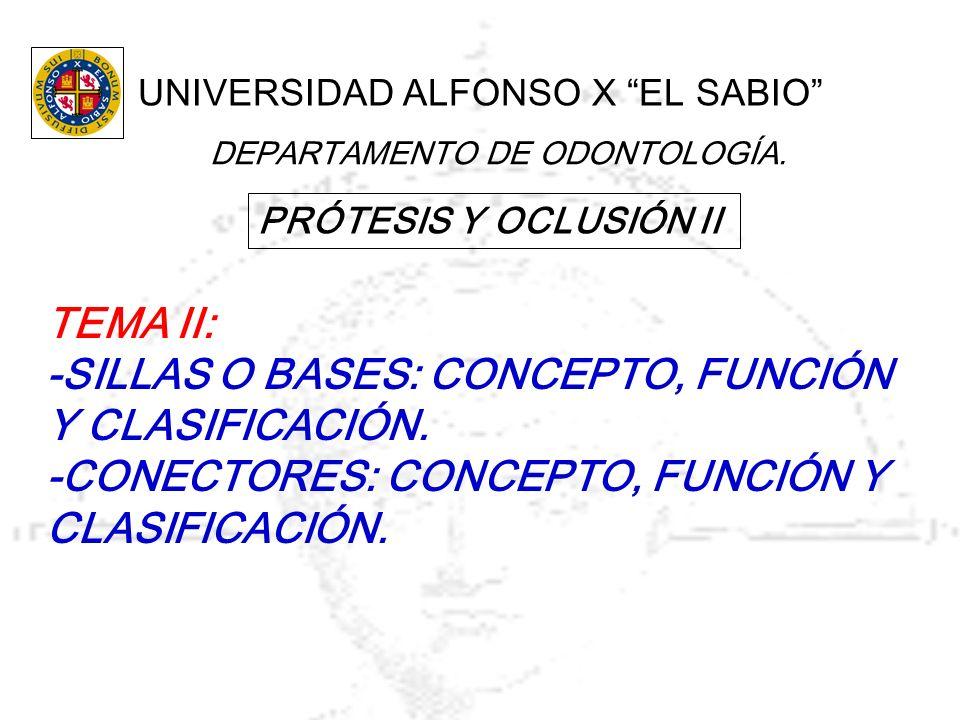 -SILLAS O BASES: CONCEPTO, FUNCIÓN Y CLASIFICACIÓN.