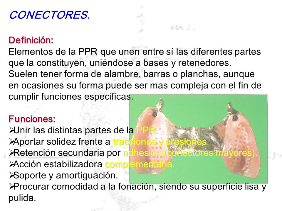 CONECTORES. Definición: