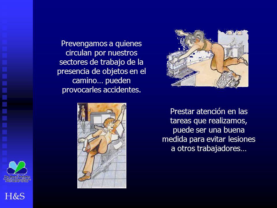 Prevengamos a quienes circulan por nuestros sectores de trabajo de la presencia de objetos en el camino… pueden provocarles accidentes.