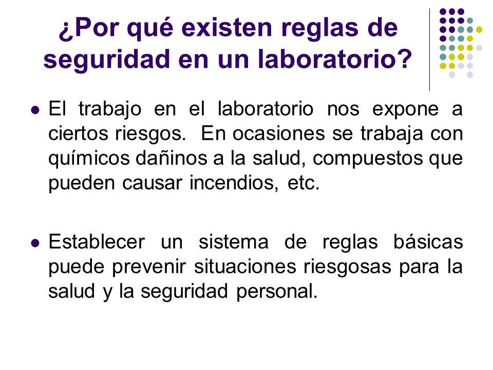 ¿Por qué existen reglas de seguridad en un laboratorio
