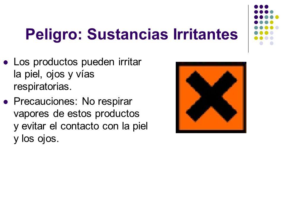 Peligro: Sustancias Irritantes